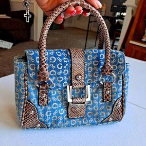 Vintage GUESS logo denim purse